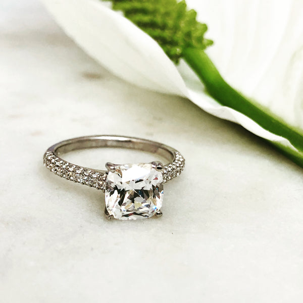 14k White Gold and Diamond Semi-Mount