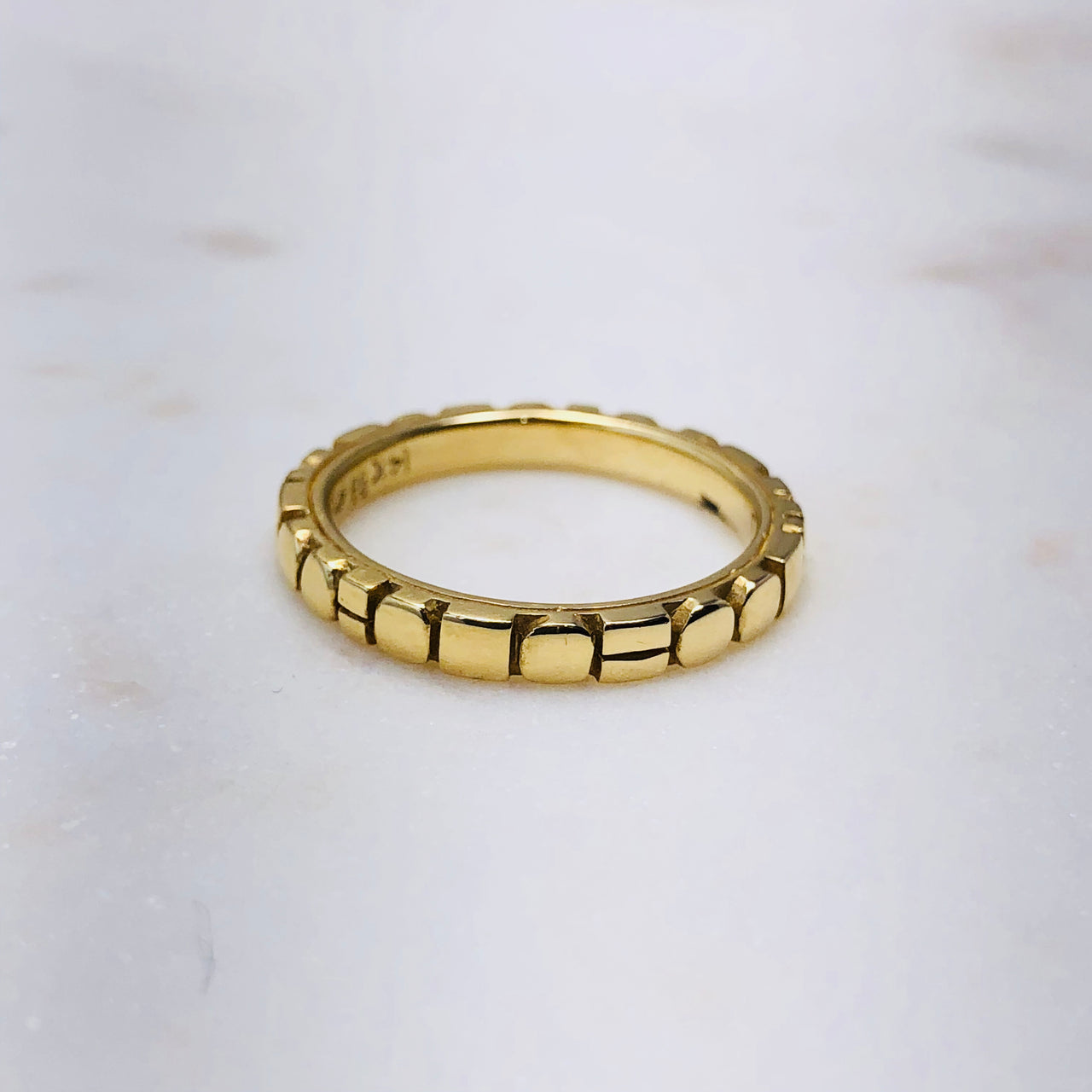 14K Yellow Gold Band.