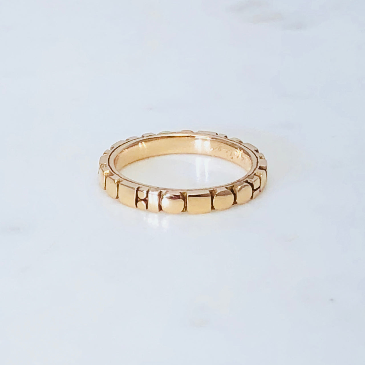 14K Rose Gold Band.