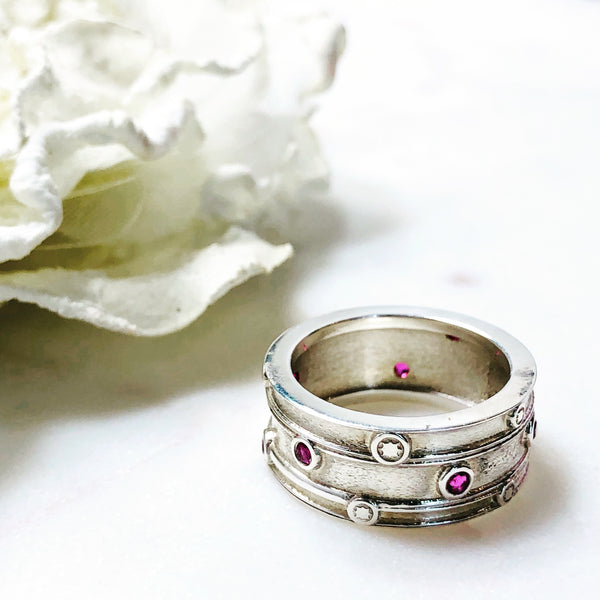 Sterling Silver Ruby Ring.