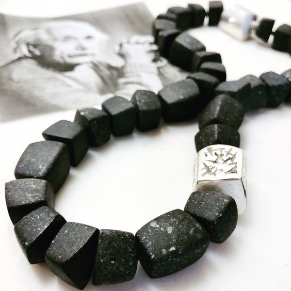 Einstein Paving Stone Bead Necklace.
