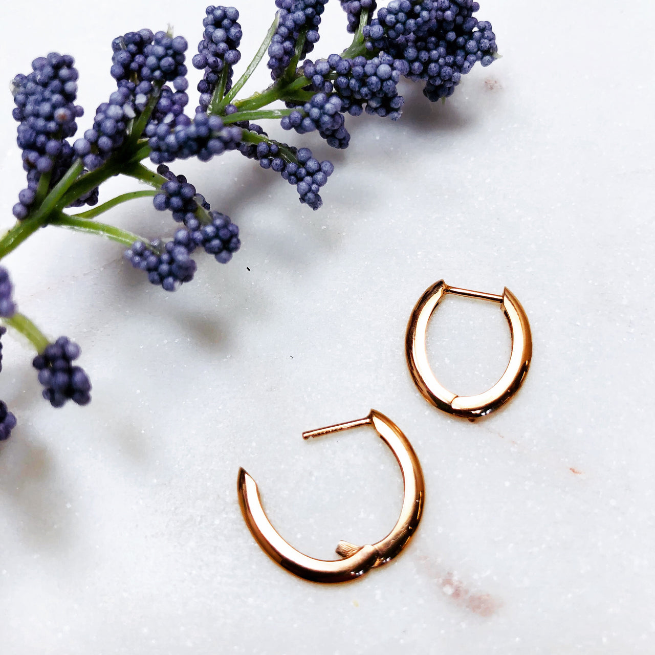 14K Rose Gold Earrings.