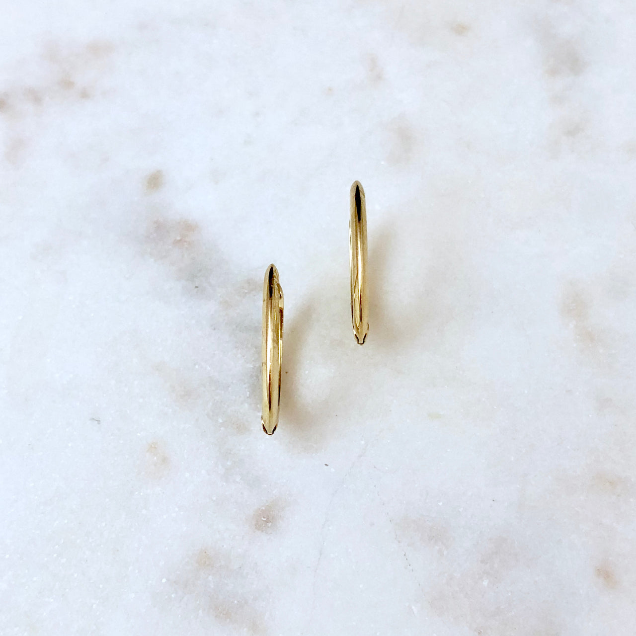 14K Yellow Gold Earrings.