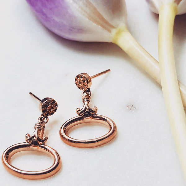 14K Rose Gold Earrings