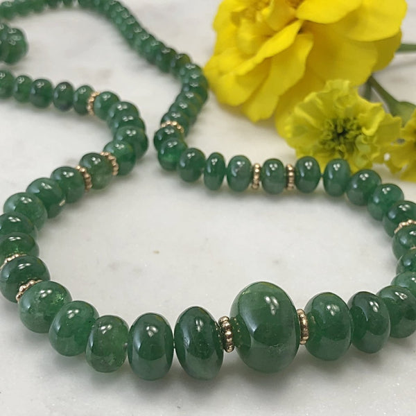 Tsavorite Garnet Necklace.
