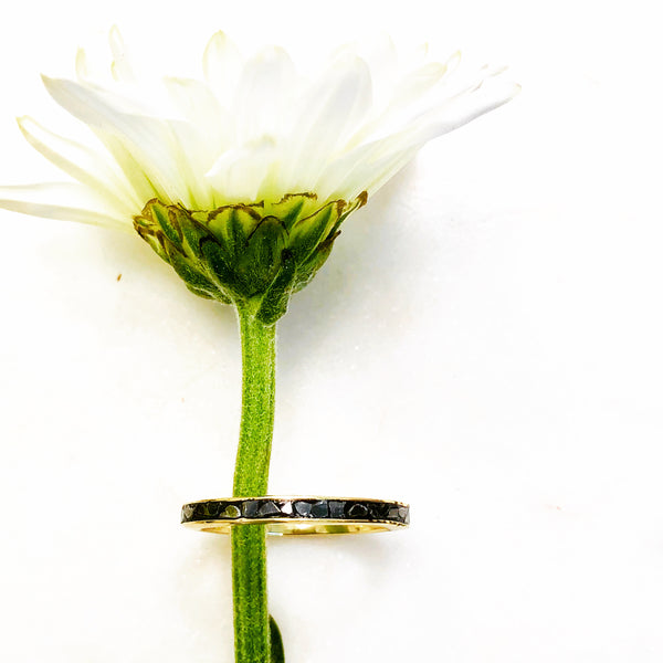 Sterling Silver/Yellow Gold Plated Diamond Ring.