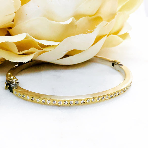 Sterling Silver and 18K Yellow Gold Diamond Bracelet.