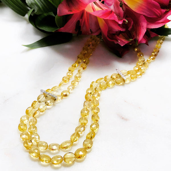 Yellow Beryl Necklace.