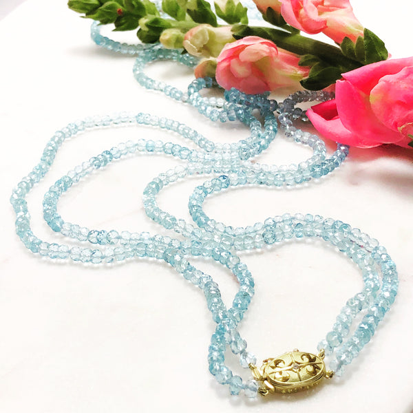 Aquamarine Necklace.