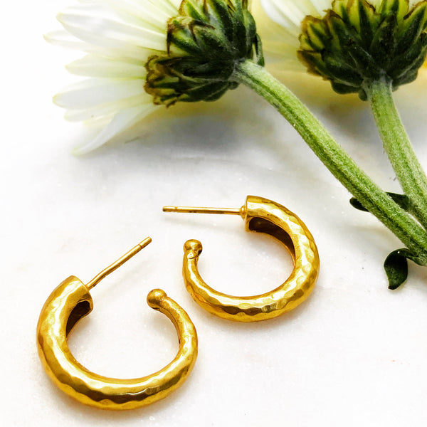 Gold Plated Earrings.