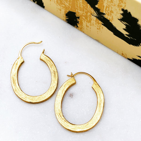 Yellow Gold Plated Earrings.