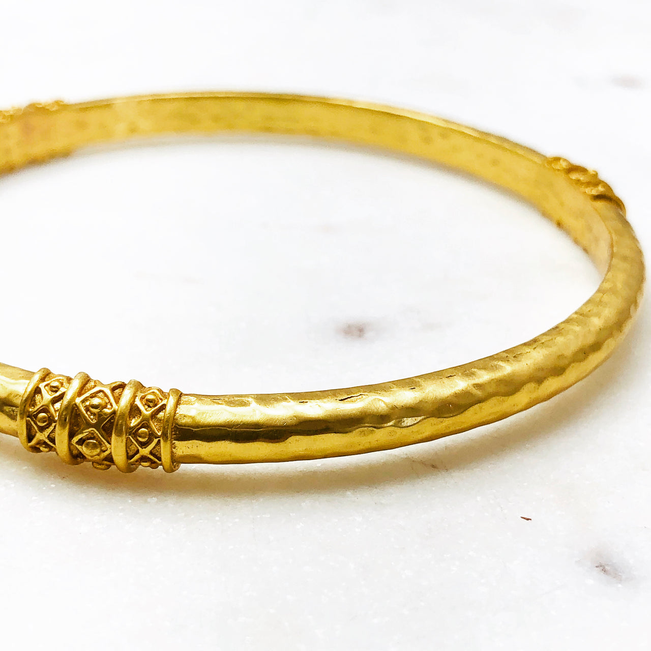 Yellow Gold Plated Bangle Bracelet.