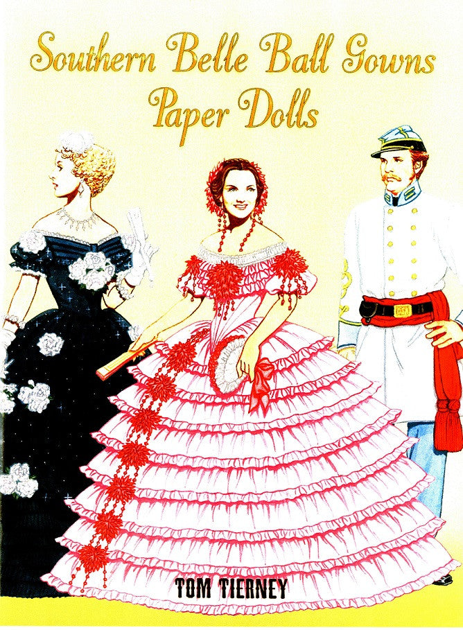 Children's Items, (Paper Dolls) Southern Belle Ball Gowns Paper Dolls