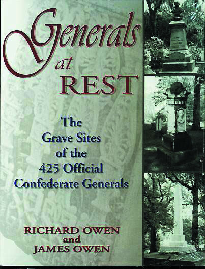 Books, Generals at Rest: The Grave Sites of the 425 Official Confederate Generals