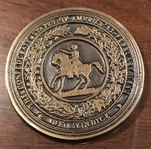 Great Seal of the Confederacy Bronze Paperweight
