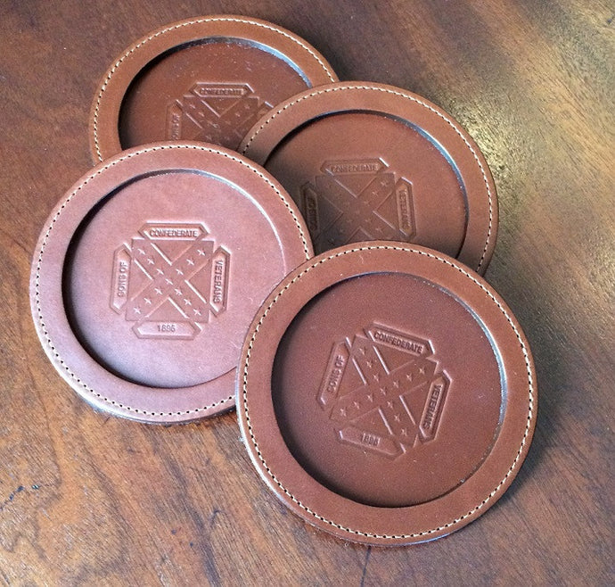 Col. Littleton Leather Coasters