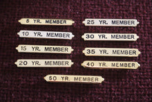 Service Pins for Membership Medal