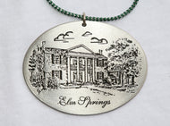 Christmas, Elm Springs Pewter Ornament