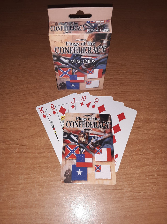 Flags of the Confederacy Playing Cards