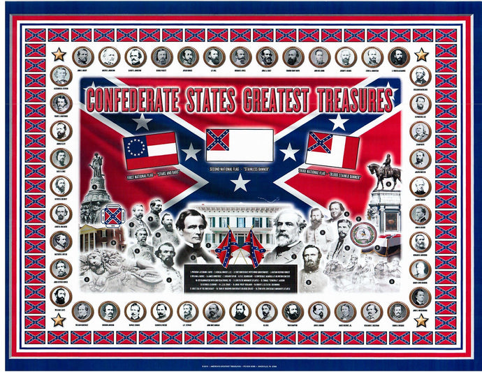Confederate States Greatest Treasures Print