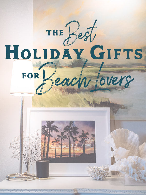 The Best Holiday Gifts for Beach Lovers by Samba to the Sea for The Sunset Shop.