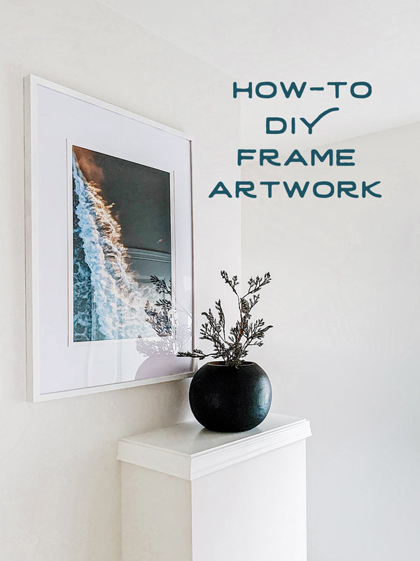 How-To DIY Frame Your Artwork. Fine art photo prints from The Sunset Shop by Samba to the Sea.!