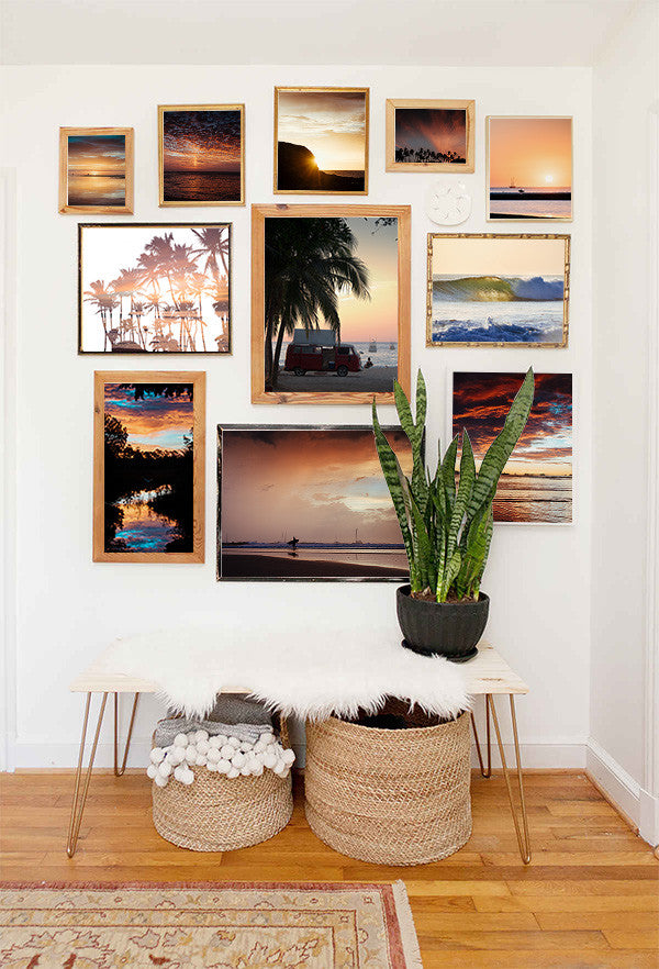 Sunset gallery wall. Samba to the Sea at The Sunset Shop.