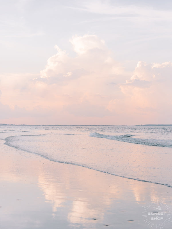 Can you think of a better way to end the day than with watching sunset at the beach??? Especially when the sky turns pastel?!?! Ok, you may not be able to get to the beach tonight to watch sunset, but you can bring home this sunset photo print...and that