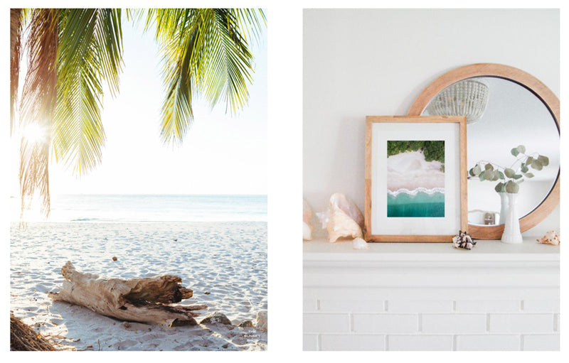Beach photo prints by Kristen M. Brown of Samba to the Sea for The Sunset Shop.