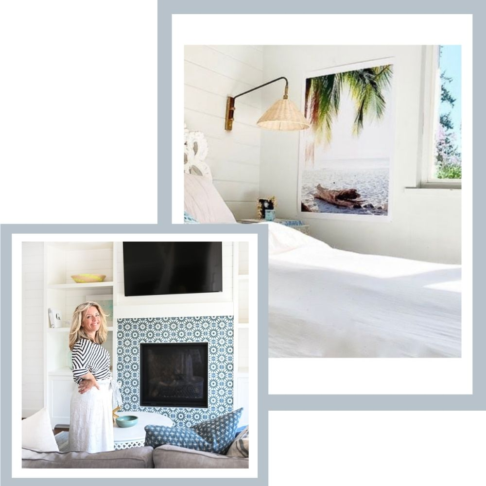 Feminine architectural coastal design by Sincerely Lindsay Design Co in Vancouver, British Columbia. Lindsay's favorite sunset and beach photo prints at The Sunset Shop.