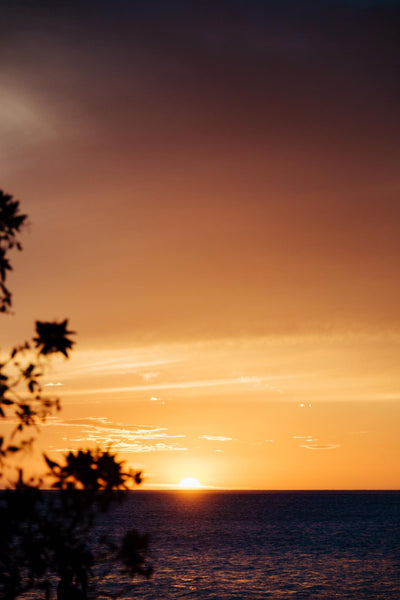 Golden sunset in Playa Tamarindo, Costa Rica. Photographed by Kristen M. Brown, Samba to the Sea