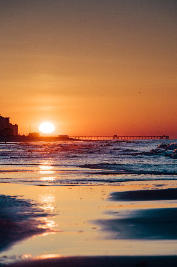 Sunrise at the beach in Gulf Shores, Alabama. Photographed by Kristen M. Brown, Samba to the Sea at The Sunset Shop.