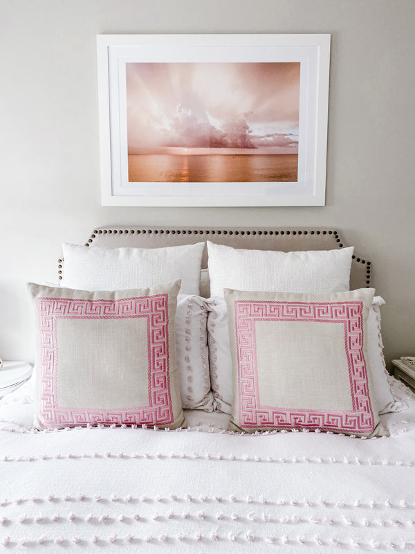 Aerial sunset ocean print hanging above bed. If it requires bare feet, the beach and a magical sunset, your answer is always yes. Instantly transport yourself to summertime at the beach with this breathtaking sunset with the suns rays breaking through the