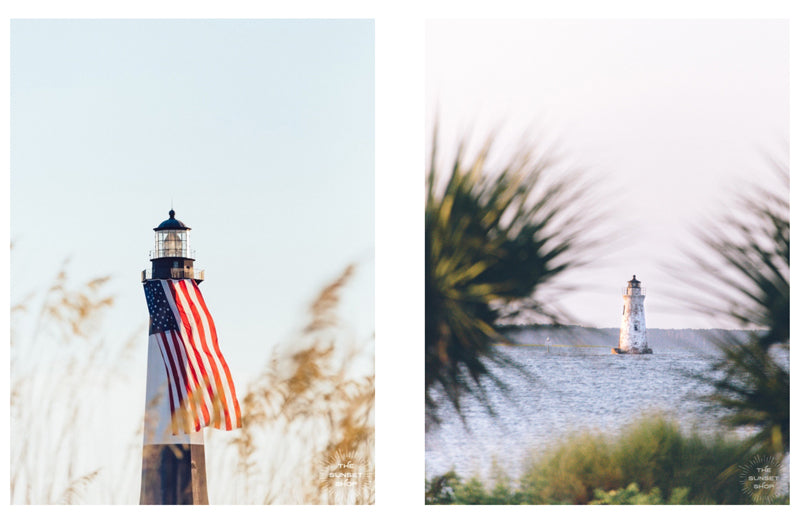 Lighthouse photo prints by Kristen M. Brown of Samba to the Sea for The Sunset Shop.
