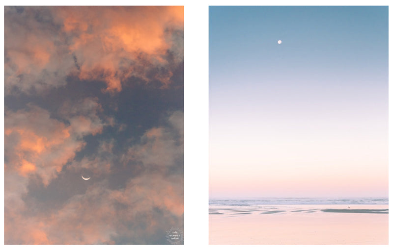 Moon photo prints by Kristen M. Brown of Samba to the Sea for The Sunset Shop.