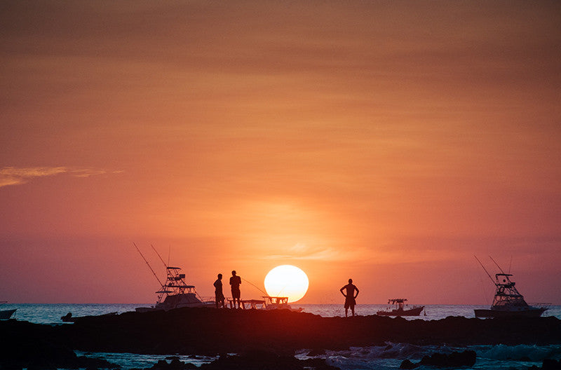 Sun passing over the horizon in Tamarindo, Costa Rica. Photographed by Kristen M. Brown, Samba to the Sea at The Sunset Shop.