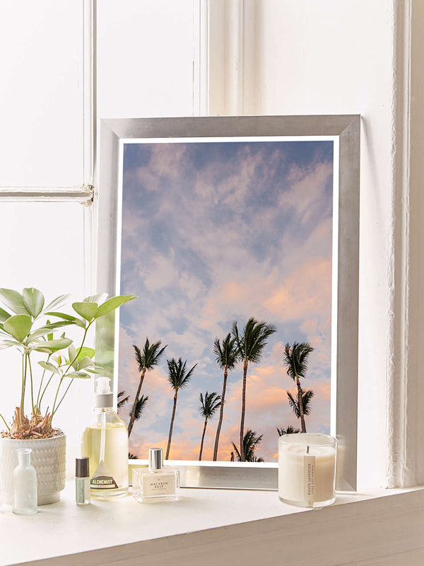 Palm trees sunset sky photo print in Tamarindo Costa Rica. Photographed by Kristen M. Brown of Samba to the Sea for The Sunset Shop.