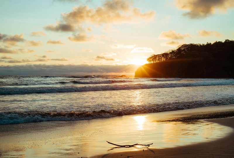 Sunset in Playa Grand Costa Rica. Photographed by Kristen M Brown, Samba to the Sea.