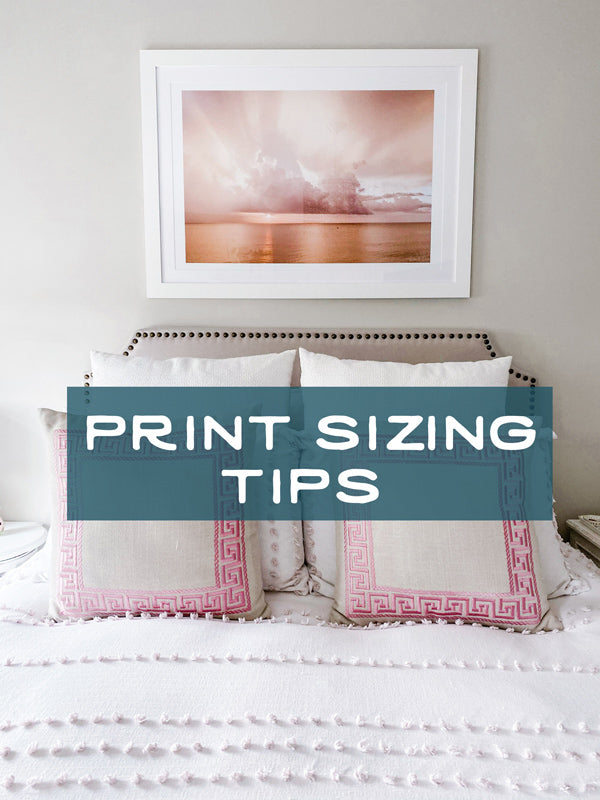 Too big, too small....and just right! Did you know there's a trick to determining what size artwork will look best hung on your wall? Click here for the trick and tips!