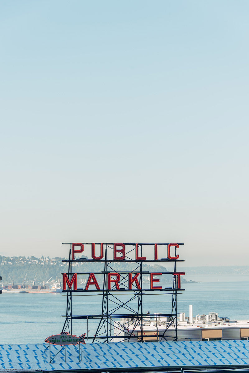 Public Market in Seattle Washington. Photographed by Kristen M. Brown, Samba to the Sea for The Sunset Shop.