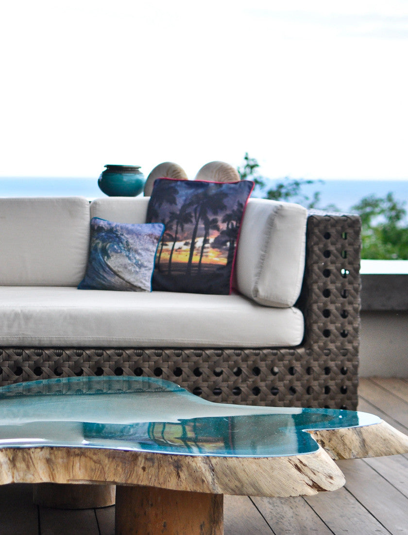 Accent pillows by Samba to the Sea.