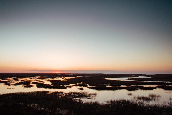 Sunrise over the marsh in Savannah, Georgia. Photographed by Kristen M. Brown, Samba to the Sea at The Sunset Shop.