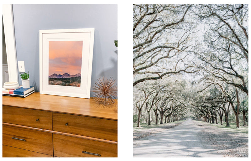 Savannah photo prints and mountain prints by Kristen M. Brown of Samba to the Sea for The Sunset Shop.