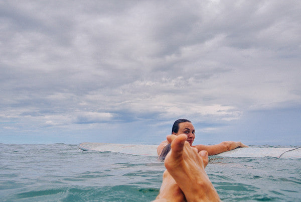 Floating in the ocean in Tamarindo, Costa Rica. Photographed by Kristen M. Brown, Samba to the Sea.