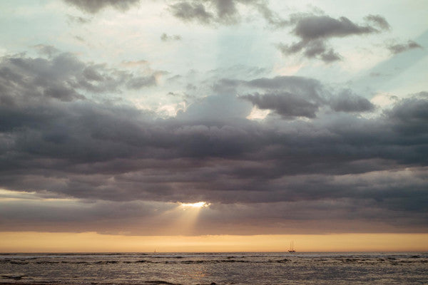 Sunset in Tamarindo, Costa Rica. Photographed by Kristen M. Brown, Samba to the Sea at The Sunset Shop.