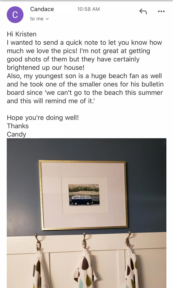 Review of The Sunset Shop. Photo prints by Kristen M. Brown of Samba to the Sea for The Sunset Shop.