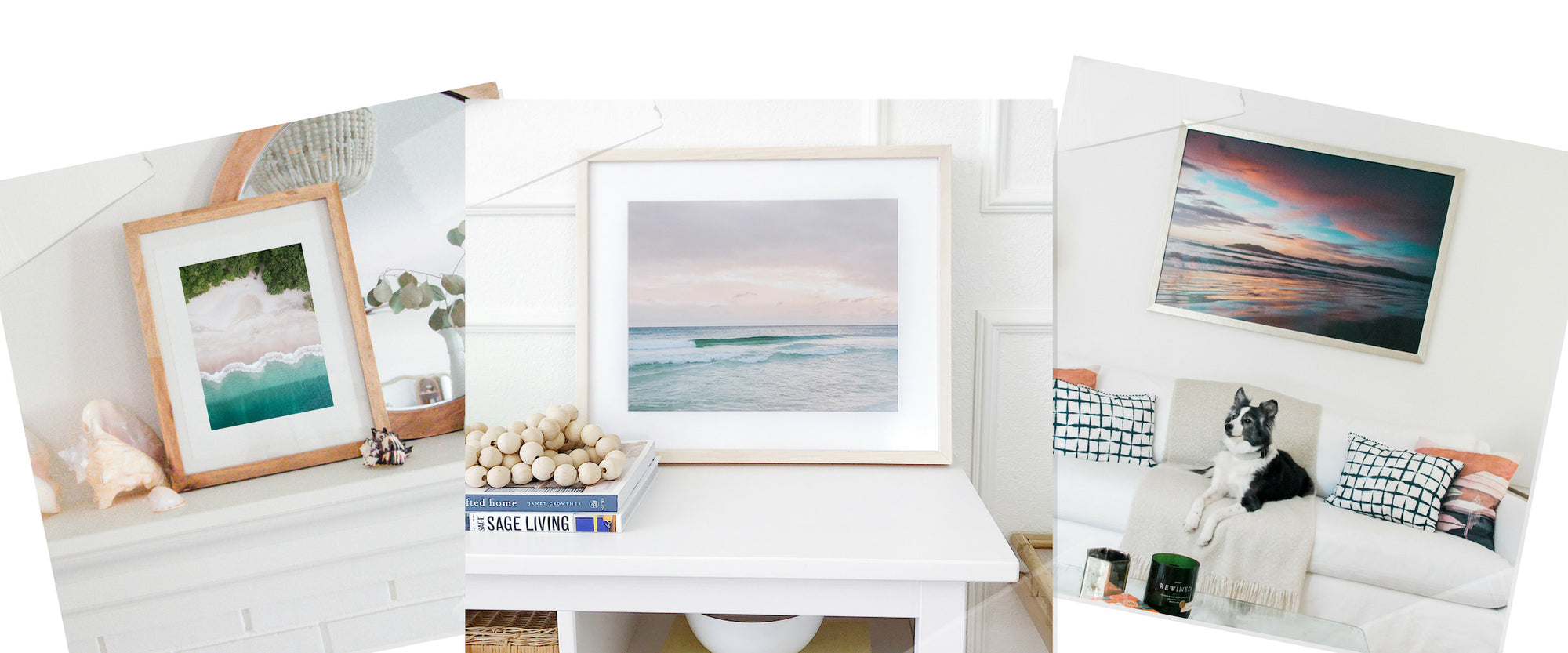 Sunset and beach framed wall art for your home. By Kristen M. Brown, Samba to the Sea at The Sunset Shop.
