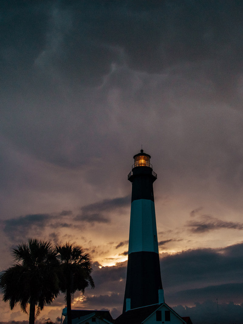 Tybee Island Lighthouse sunset. Photographed by Kristen M. Brown, Samba to the Sea.