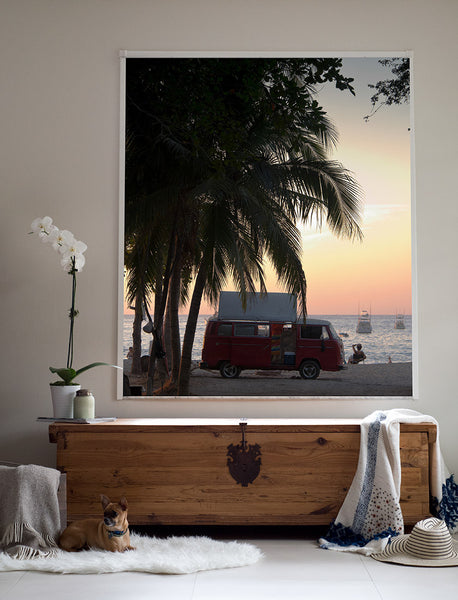 VW Bus Sunset print by Samba to the Sea