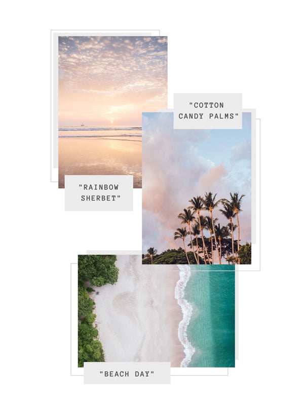 Sunset and beach photo prints wishlist selections at The Sunset Shop.